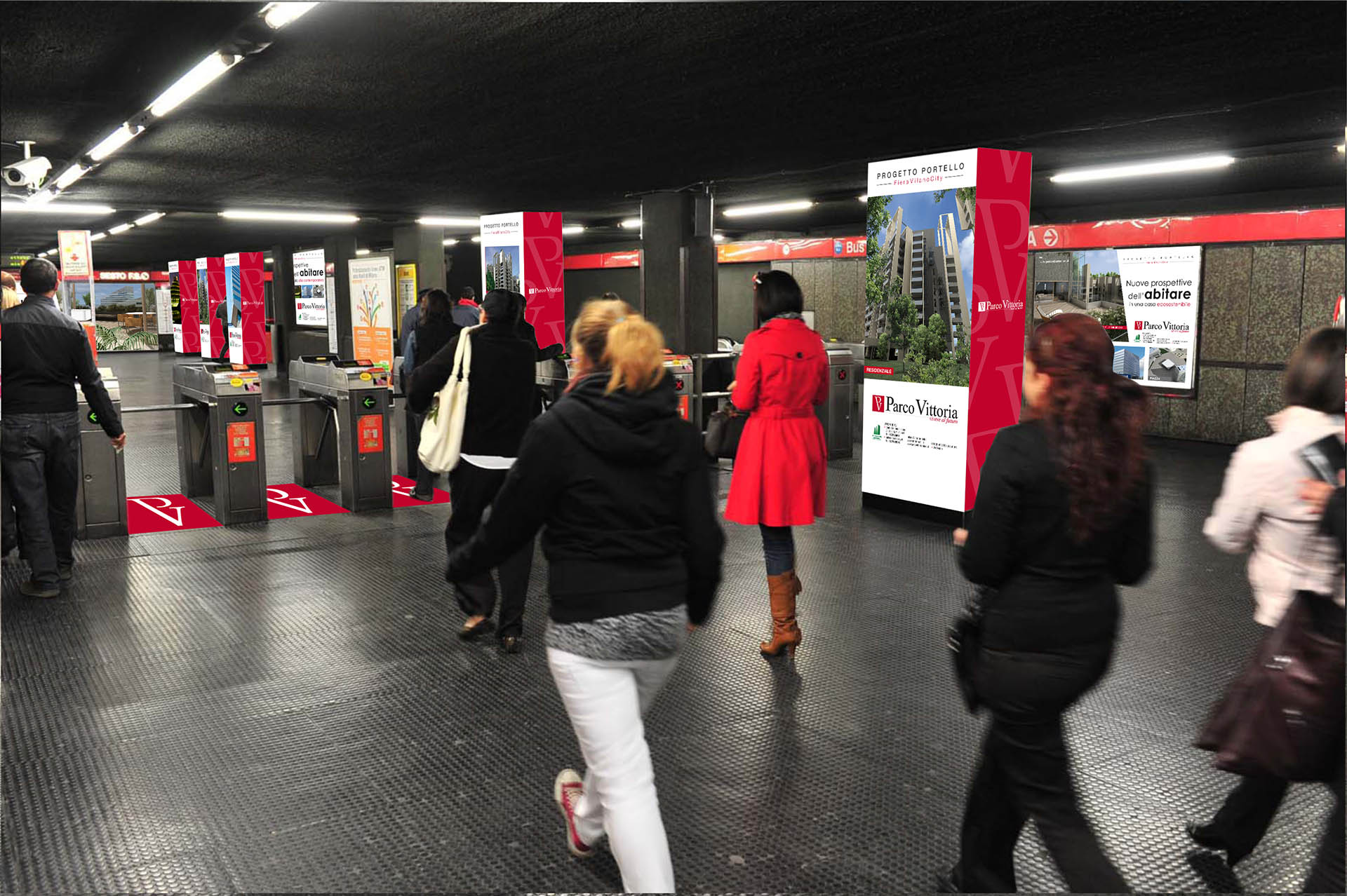 Parco Vittoria, Station domination metro Milano