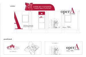 """Caldora, Allestimento ufficio vendite """"Opera"""""""