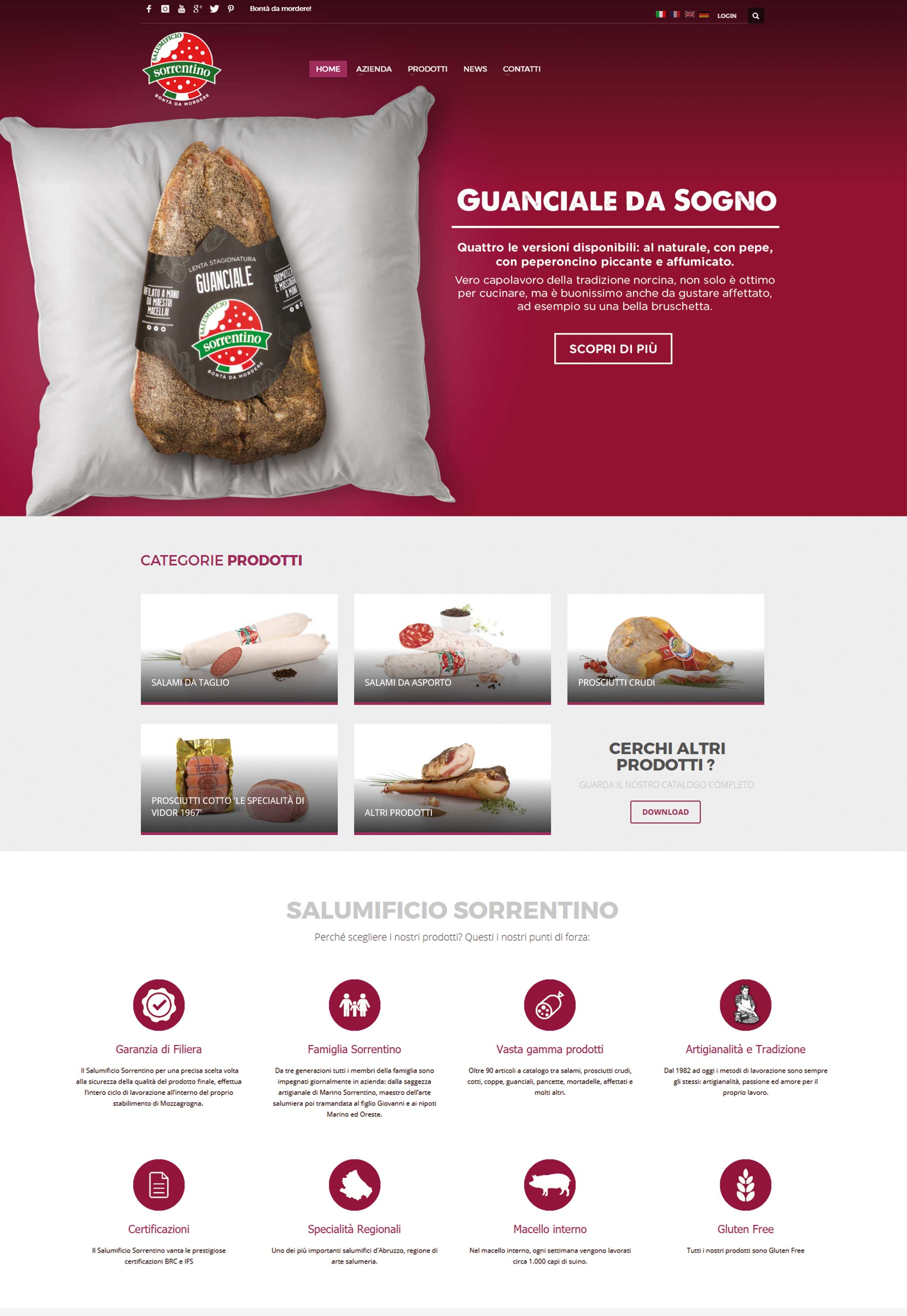 Sorrentino, Web site